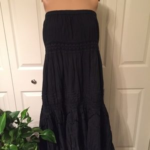 Phool Maxi Boho skirt/dress, black